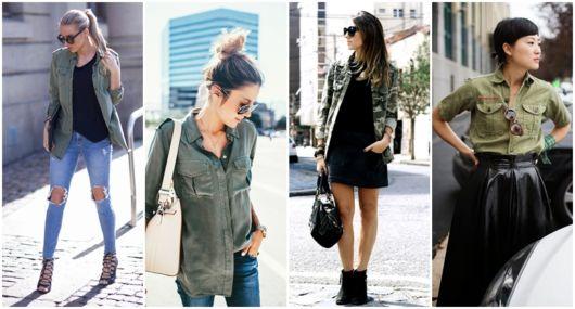 Camisa Militar Feminina – Como Usar & 41 Looks Super Estilosos!