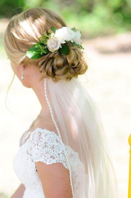 penteado com véu noiva
