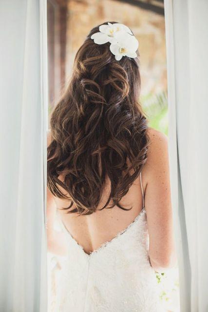 penteado noiva com orquídea