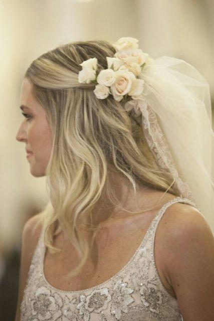 penteado semi-preso noiva