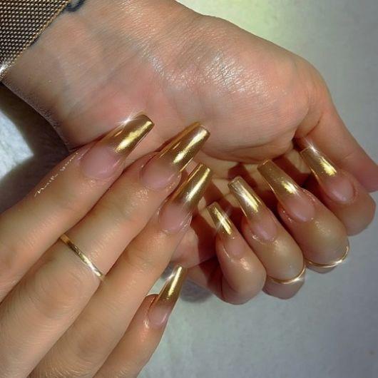 francesinha dourada longa