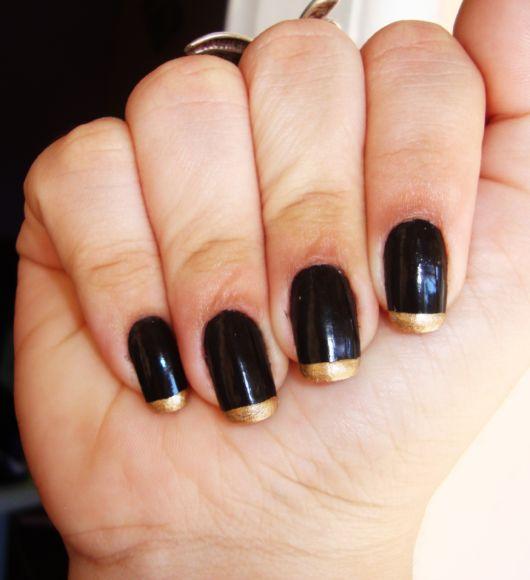 francesinha dourada com preto