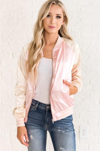 jaqueta rosa linda