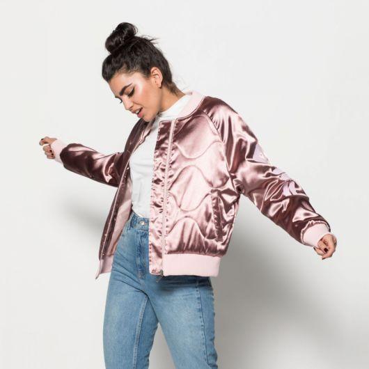 jaqueta rosa bomber rosa