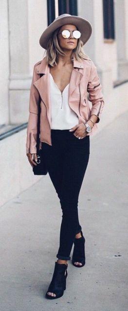 jaqueta rosa dica da moda inverno