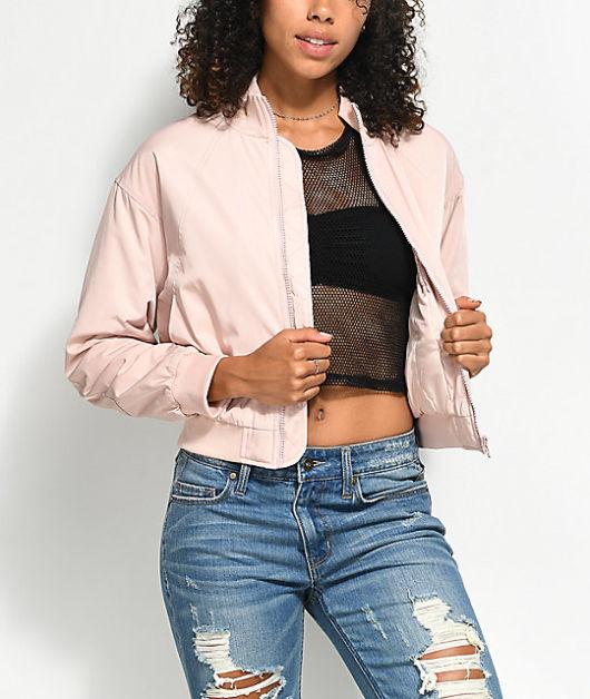 jaqueta rosa modelo bomber