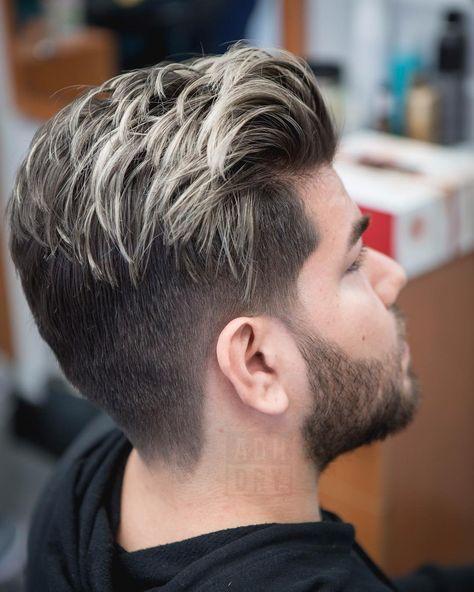 Luzes masculinas: cabelo preto
