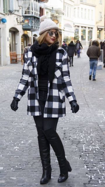 look inverno preto e branco