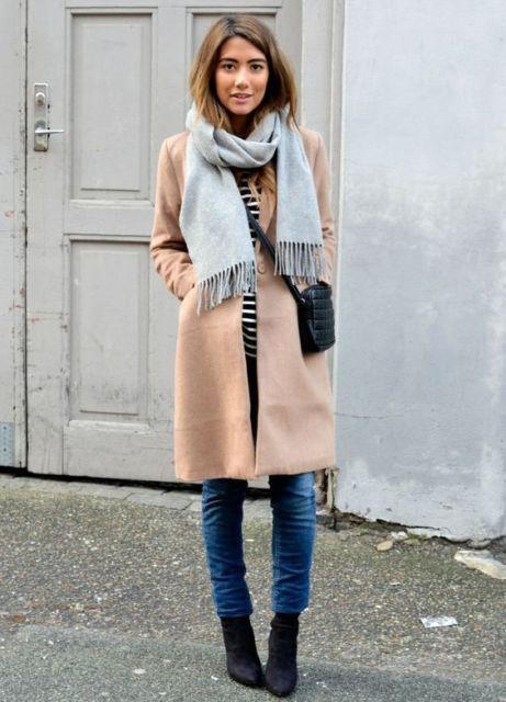 look com casaco de inverno nude