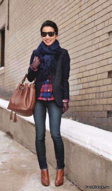 camisa xadrez look de inverno