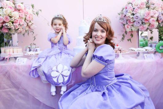 Penteado de princesa: Sofia