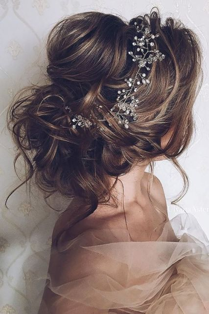 Penteado de princesa coque para casamento