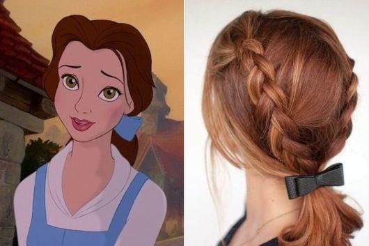 Penteado de princesa infantil com trança