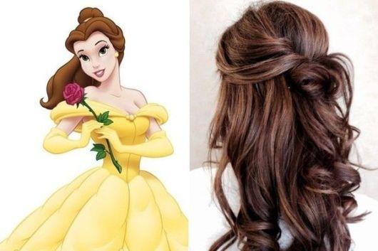Penteado de princesa: Bela