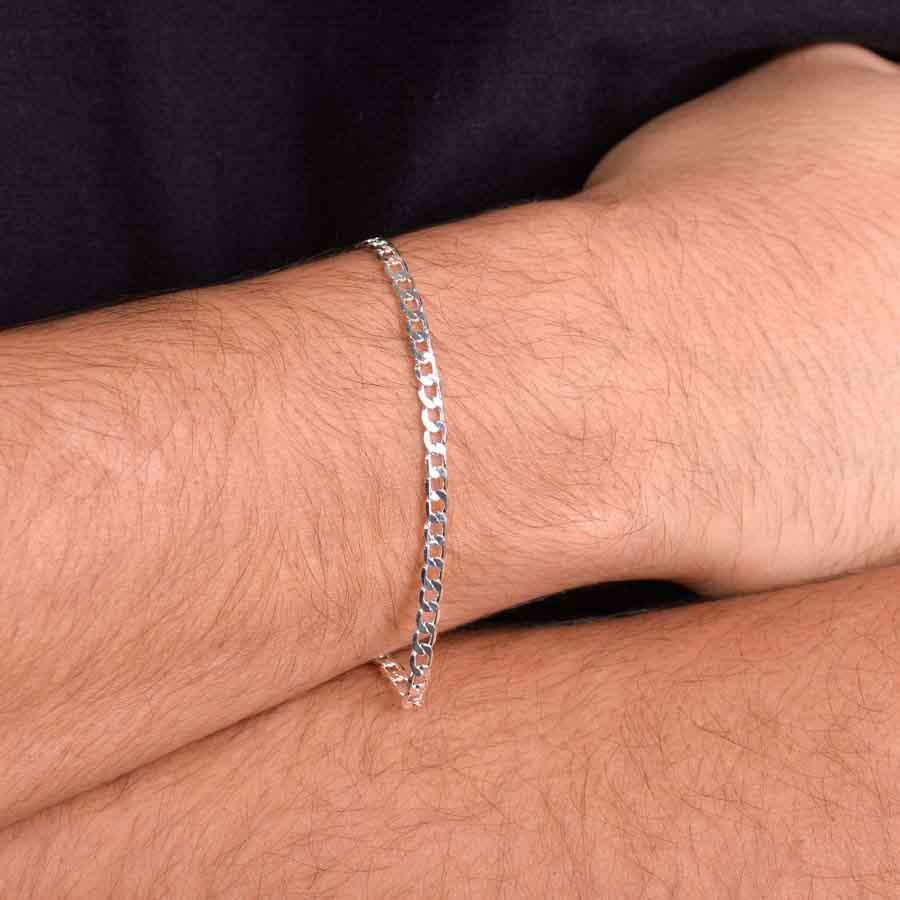 pulseira de prata fina