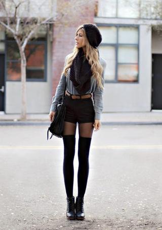 short com meia calça moda inverno