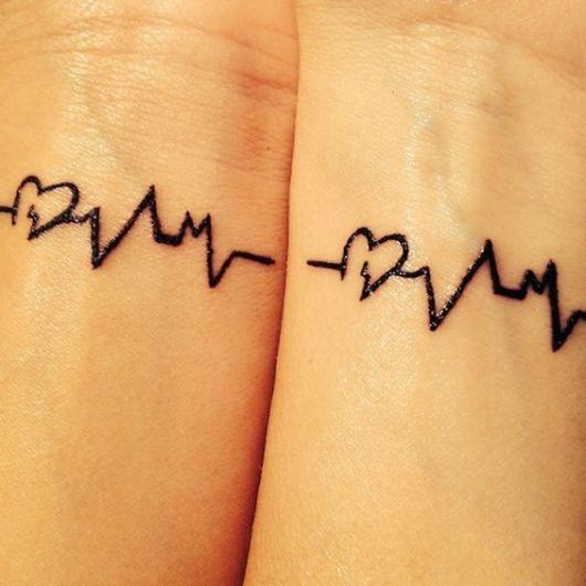 tatuagem batimentos cardíacos