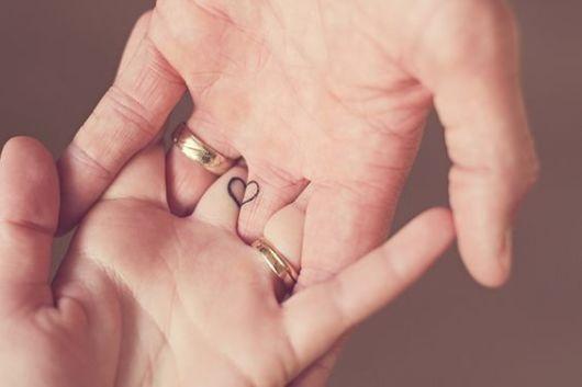 tatuagem coração para casal