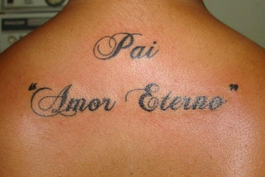tatuagem pai