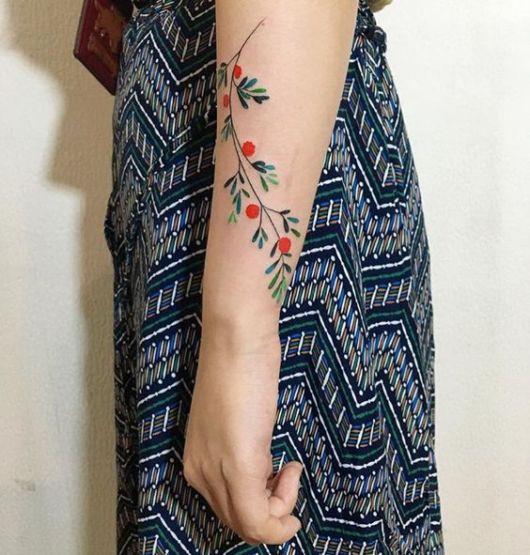tatuagem delicada colorida