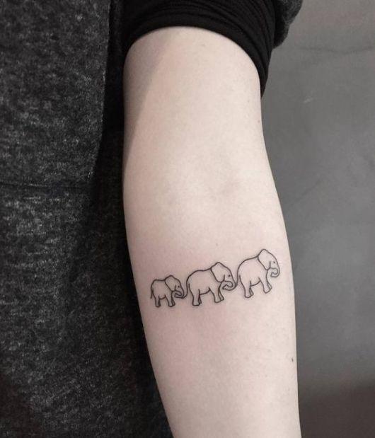 tatuagem elefantes