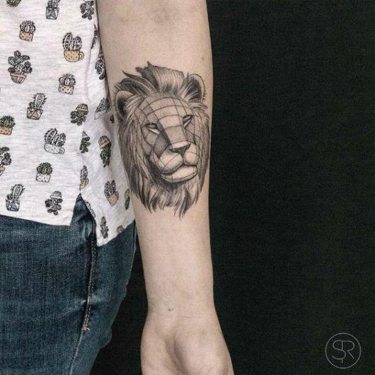 tatuagem moderna preta e branca