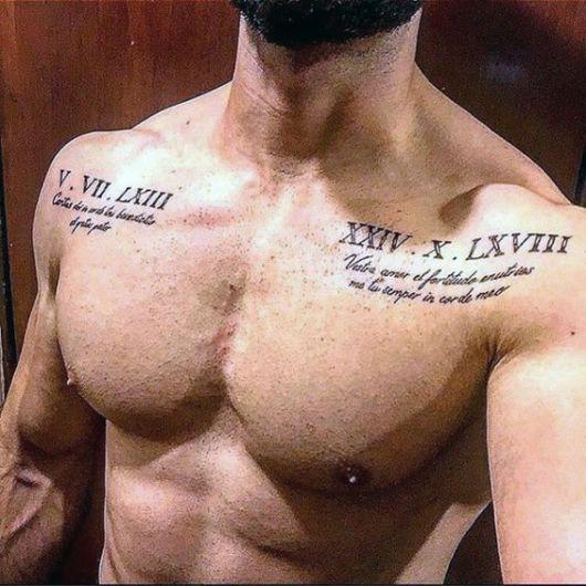Tatuagens com datas e frases