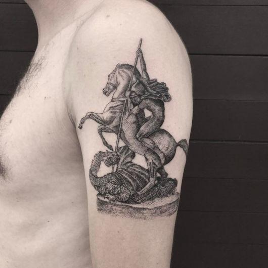 tatuagem São Jorge