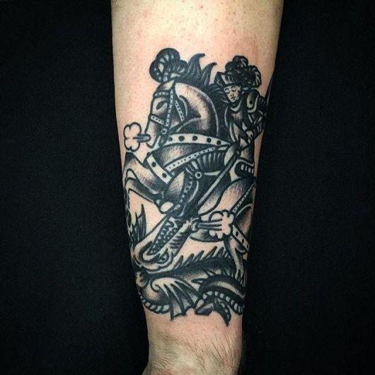 tatuagem de São Jorge