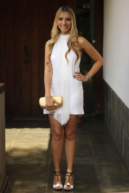vestido curto branco