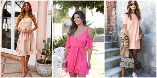 looks com vestido rosa