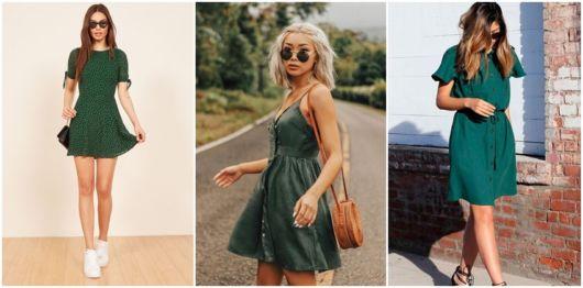 looks com vestido verde