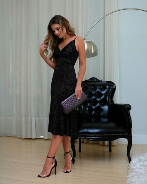 vestido midi formatura