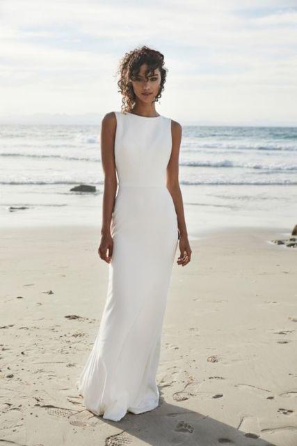 vestido de noiva minimalista