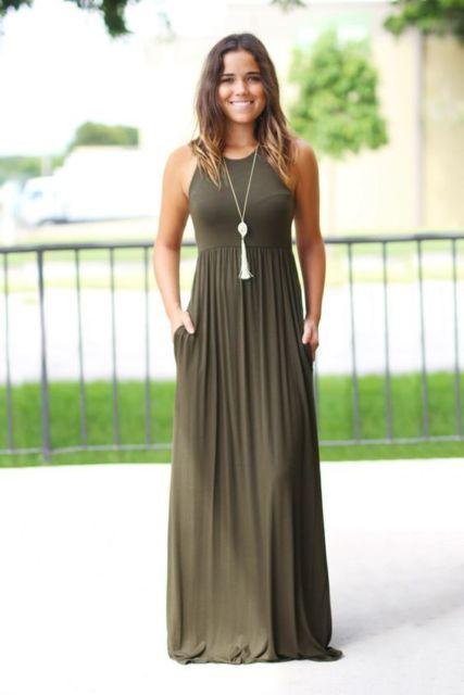look com vestido longo de malha