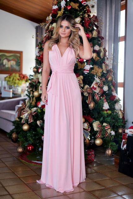 look vestido rosa madrinha