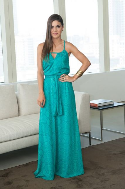 vestido turquesa madrinha