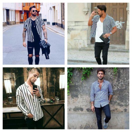 Camisa listrada masculina – 75 maneiras sensacionais de usar a sua!