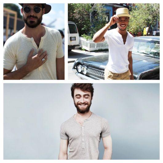 Camiseta henley masculina – 77 modelos modernos e dicas para usar!