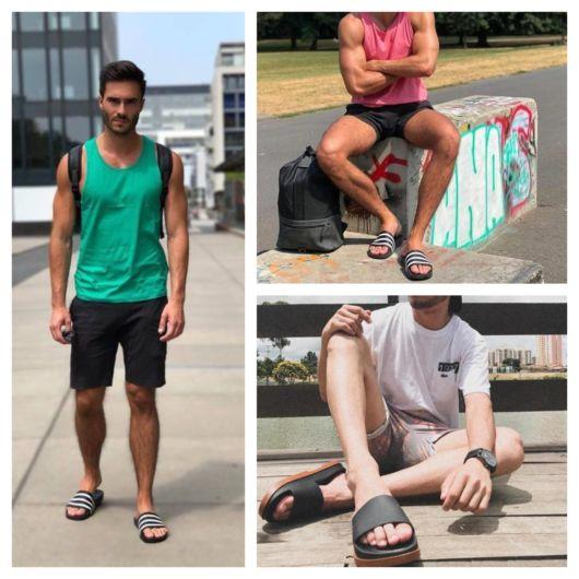 Chinelo slide masculino – Modelos, dicas de looks e onde comprar!