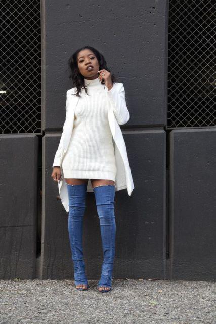 look monocromático branco