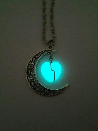 colar de lua e coração