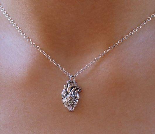 colar de prata feminino