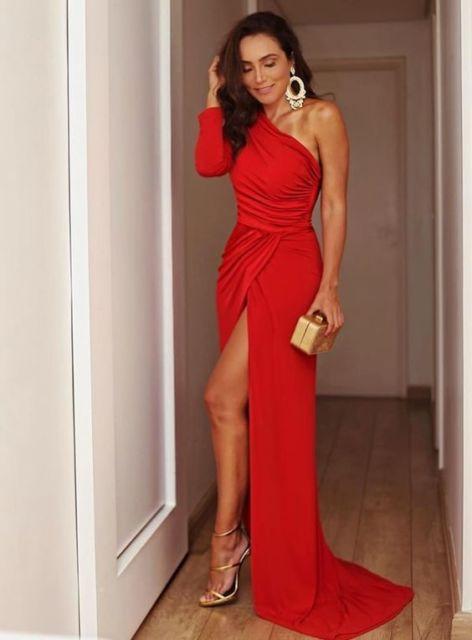vestido vermelho para casamento
