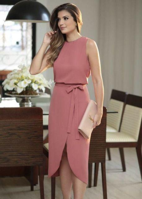 look vestido simples