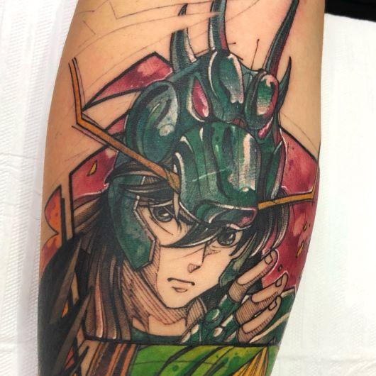 tatuagem de anime desenhos cavaleiros do zoodiaco