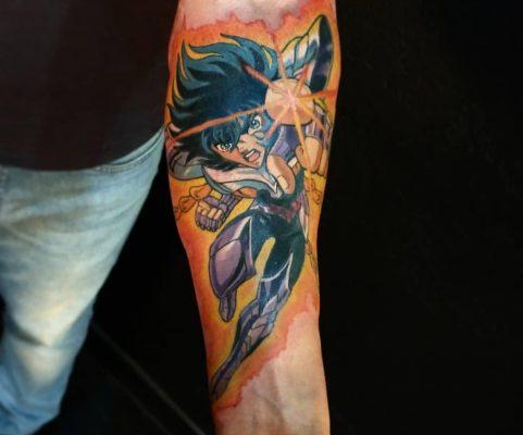 tatuagem de anime seya