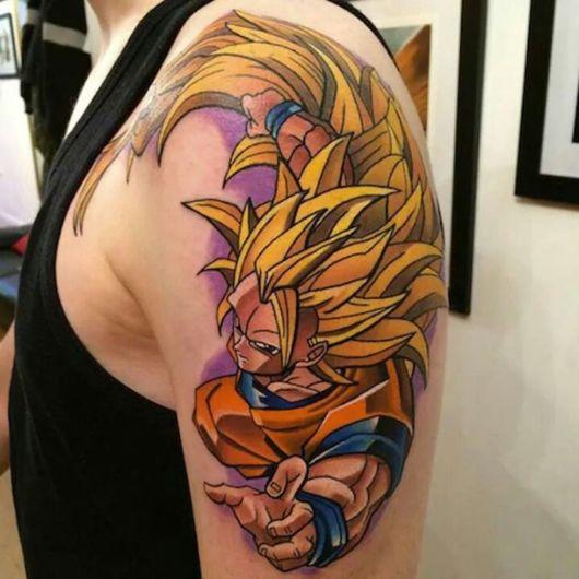 tatuagem de anime no antebraço dragon ball