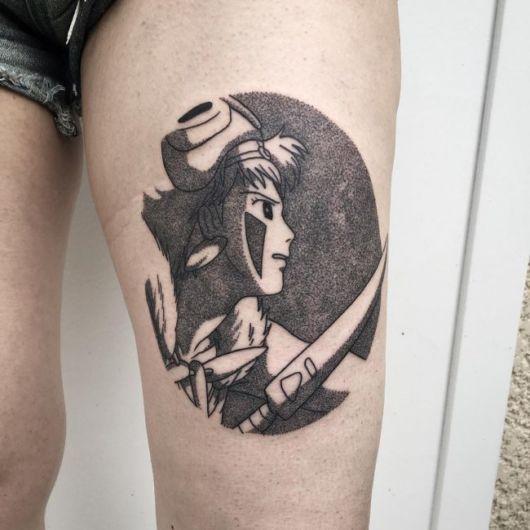 tatuagem de anime com sombra