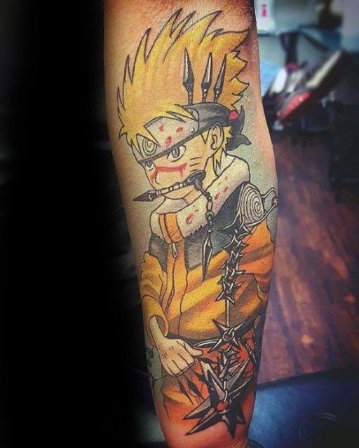 tatuagem de anime desenho do naruto